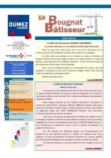 Bougnat Batisseur n° 44 juillet 2012.pub - DUMEZ LAGORSSE
