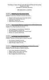 Agenda - Brookhaven National Laboratory