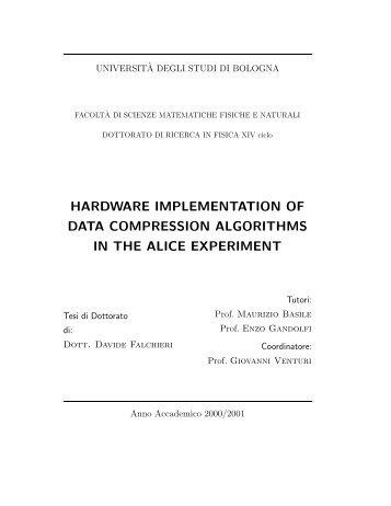 hardware implementation of data compression ... - INFN Bologna