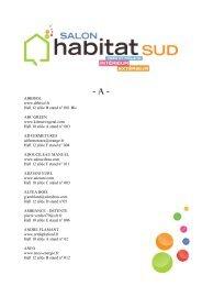 Liste des exposants - Salon de l'habitat Montpellier