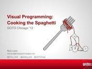 Visual Programming: Cooking the Spaghetti - GOTO Conferences