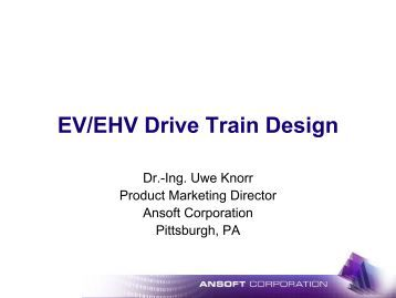 Presentation - EV/EHV Drive Train Design