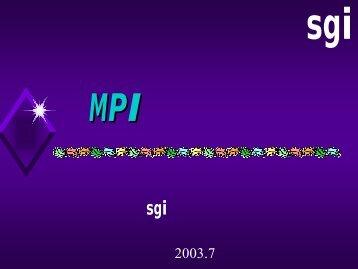 美国sgi 电子计算机公司曹银锋2003.7