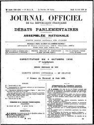 Première séance - Archives de l'Assemblée nationale
