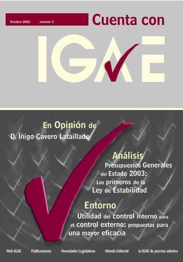 Revista Cuenta con IGAE nº 5. Octubre 2002 (pdf) - Intervención ...