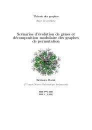Scénarios d'évolution de gènes et décomposition modulaire des ...