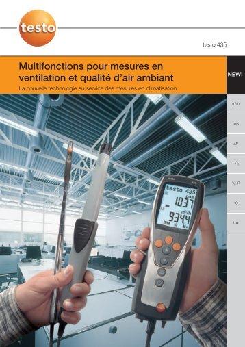 Multifonctions pour mesures en ventilation et qualité d'air ambiant