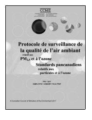Protocole de surveillance de la qualité de l'air ambiant - CCME