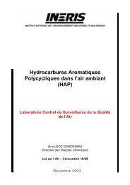 Hydrocarbures Aromatiques Polycycliques dans l'air ambiant - LCSQA