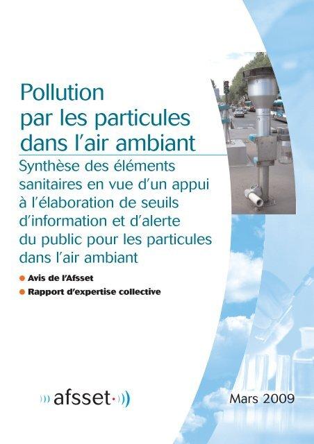 Pollution par les particules dans l'air ambiant - Afsset