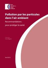 Pollution par les particules dans l'air ambiant - Haut Conseil de la ...