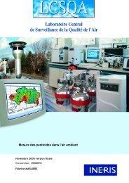Mesure des pesticides dans l'air ambiant - 2005 - Observatoire des ...