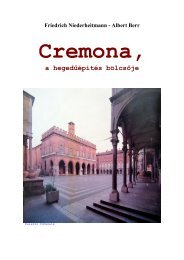 Cremona, a hegedűépítés bölcsője - MEK