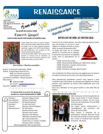 Journal Renaissance Automne/Hiver 2011-2012 - CASA