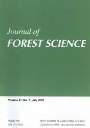journal of forest science