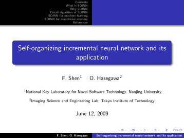 Self-organizing incremental neural network and its application