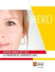 2011-2012 rapport annuel - Fondation de l'Université Laval
