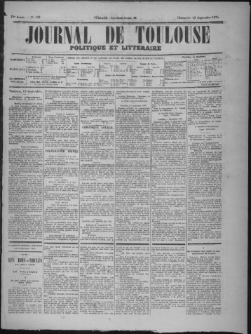12 Septembre 1875 - Bibliothèque de Toulouse