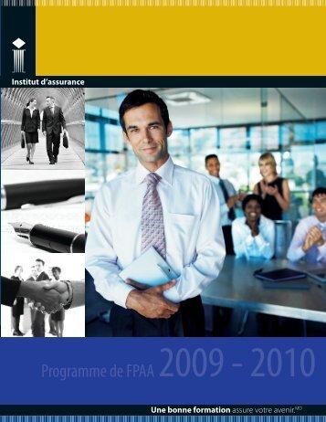 Programme de FPAA - Insurance Institute of Canada