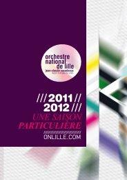 Voir la brochure au format PDF. - Orchestre national de Lille