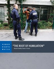 """THE ROOT OF HUMILIATION"" - Human Rights Watch"