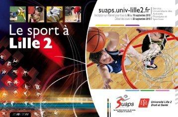 télécharger la brochure de Lille 2 - SUAPS - EXPLI-SITES