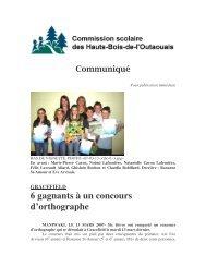 6 gagnants à un concours d'orthographe - Commission scolaire des ...