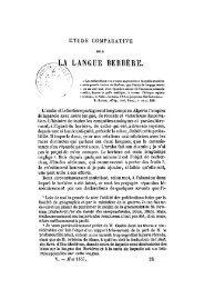JUDAS, Auguste C., « Etude comparée sur la langue berbère