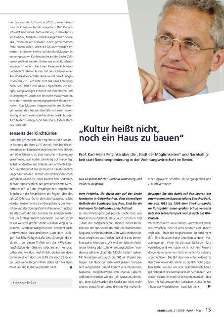 """Prof. Karl-Heinz Petzinka über die """"Stadt der Möglichkeiten"""""""