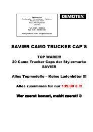 SAVIER CAMO TRUCKER CAP´S