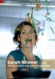Sarah Wiener über Köche, Küken und gute Lebensmittel, Interview
