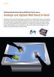 Multitouch-Tische: Analoge und digitale Welt Hand in Hand (Januar ...