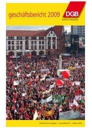 Geschäftsbericht des DGB Östliches Ruhrgebiet (Oktober 2009)