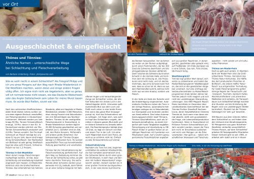 unterschiedliche Wege bei Schlachtung und Fleischverarbeitung