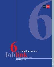 JobLink 6 - Zwischen Schule und Beruf - Globales Lernen ...