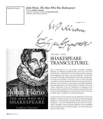 Shakespeare transculturel, JEU Revue de théâtre, N.141 décembre ...