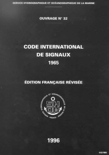 Code international de signaux - Shom