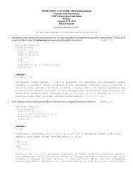 SOLUTION: UTS MMT-106 Pemrograman - cs.unsyiah.ac.id ...