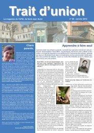 Trait d'Union Janvier 2012 - APEL Saint Jean Hulst
