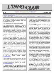 Info Club N°60 novembre 2006 - Les Magiciens de Provence