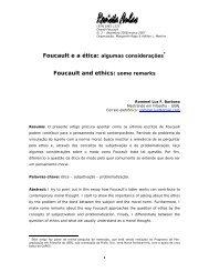 Foucault ea ética: algumas considerações - Unicamp