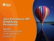 Java Persistence API: Simplifying Persistence