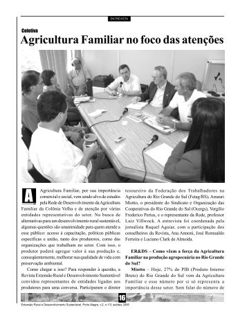 coletiva - Agricultura Familiar no foco das atenções - Emater - RS