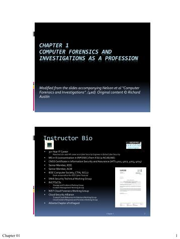 chapter 1 computer forensics and investigations as a profession