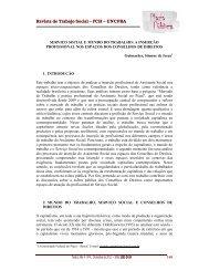 Serviço social e mundo do trabalho - Revista Plaza Pública