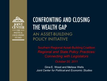 An Asset-Building Policy Initiative - Center for Social Development