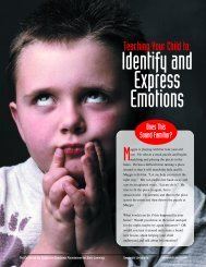 Teaching your child...emotion - Center on the Social and Emotional ...