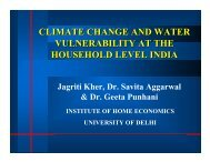 climate change and water vulnerability at the household level india
