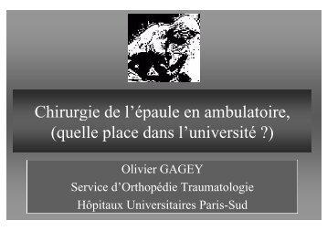 Chirurgie de l'épaule en ambulatoire Chirurgie de l épaule ... - Anap