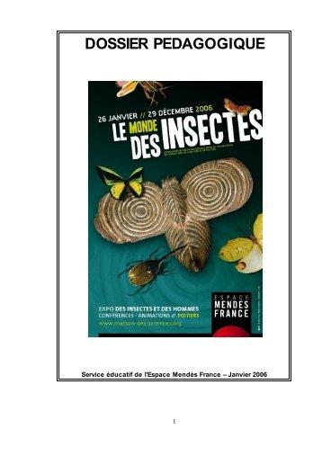 Dossier pédagogique : Le Monde des Insectes